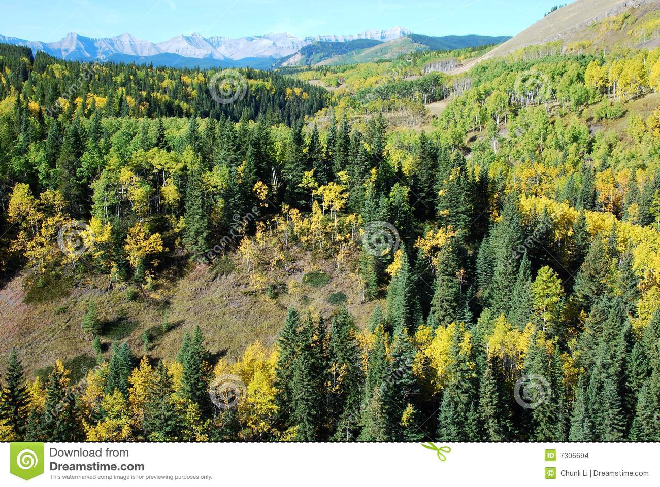 Pecore River Valley in autunno