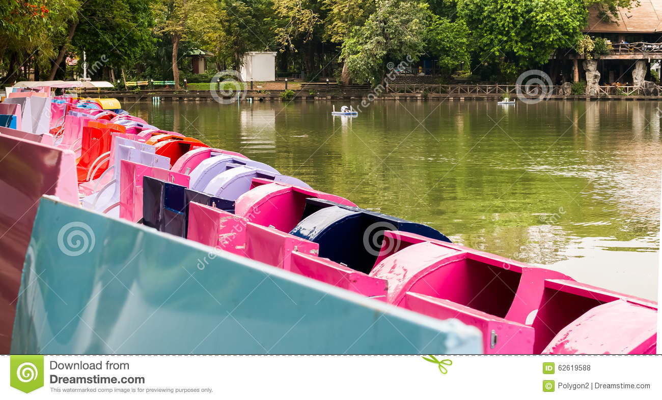 A pedalo or paddle boat is a small human-powered watercraft propelled by the action of pedals turning a paddle wheel.