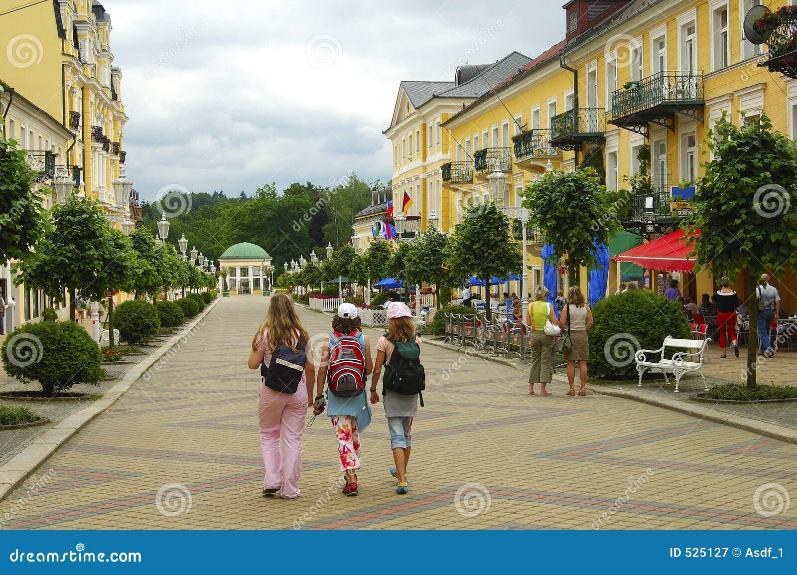 Pedastrian μικρού χωριού περιοχής