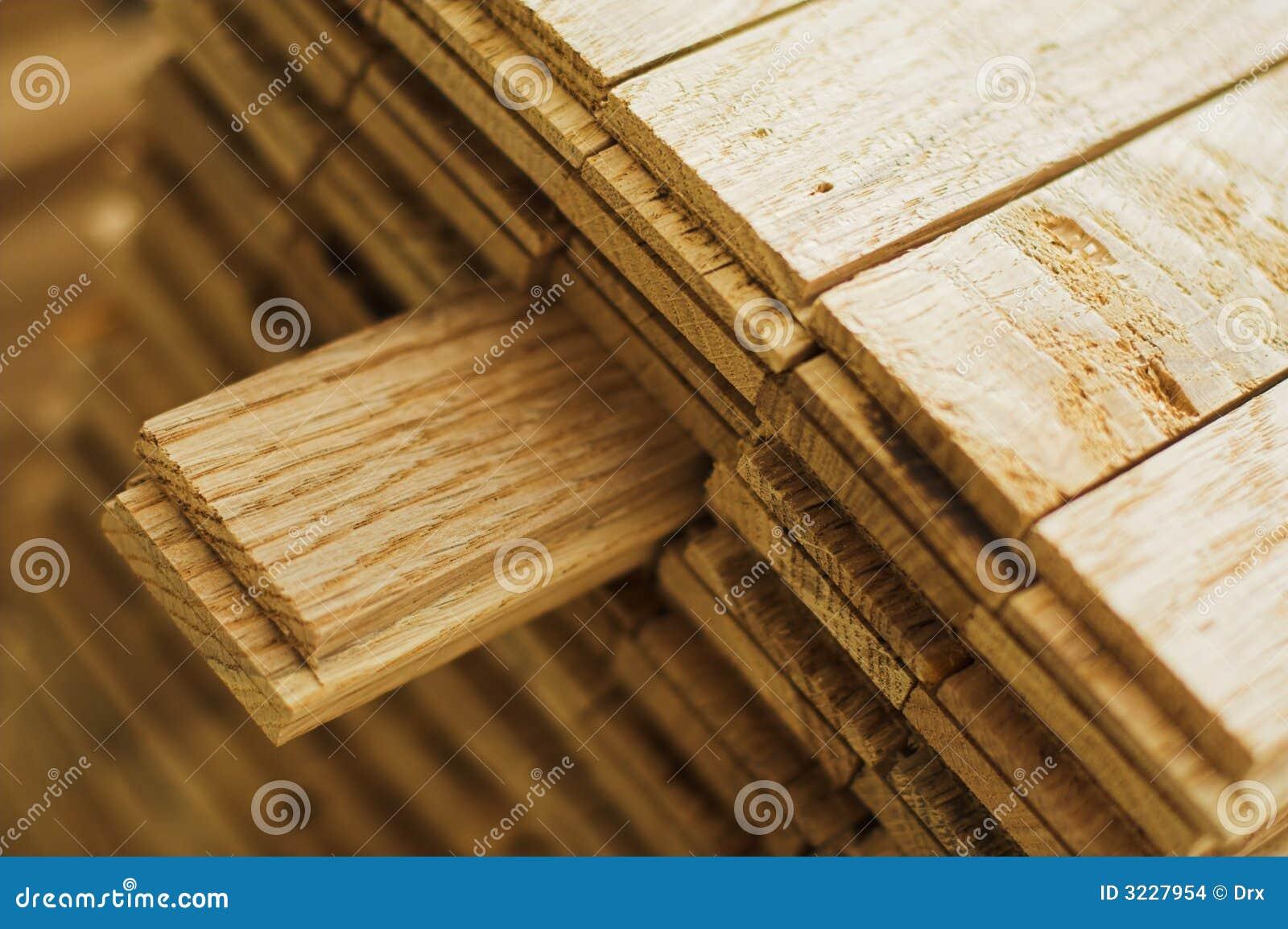 Pedazo de madera del entarimado