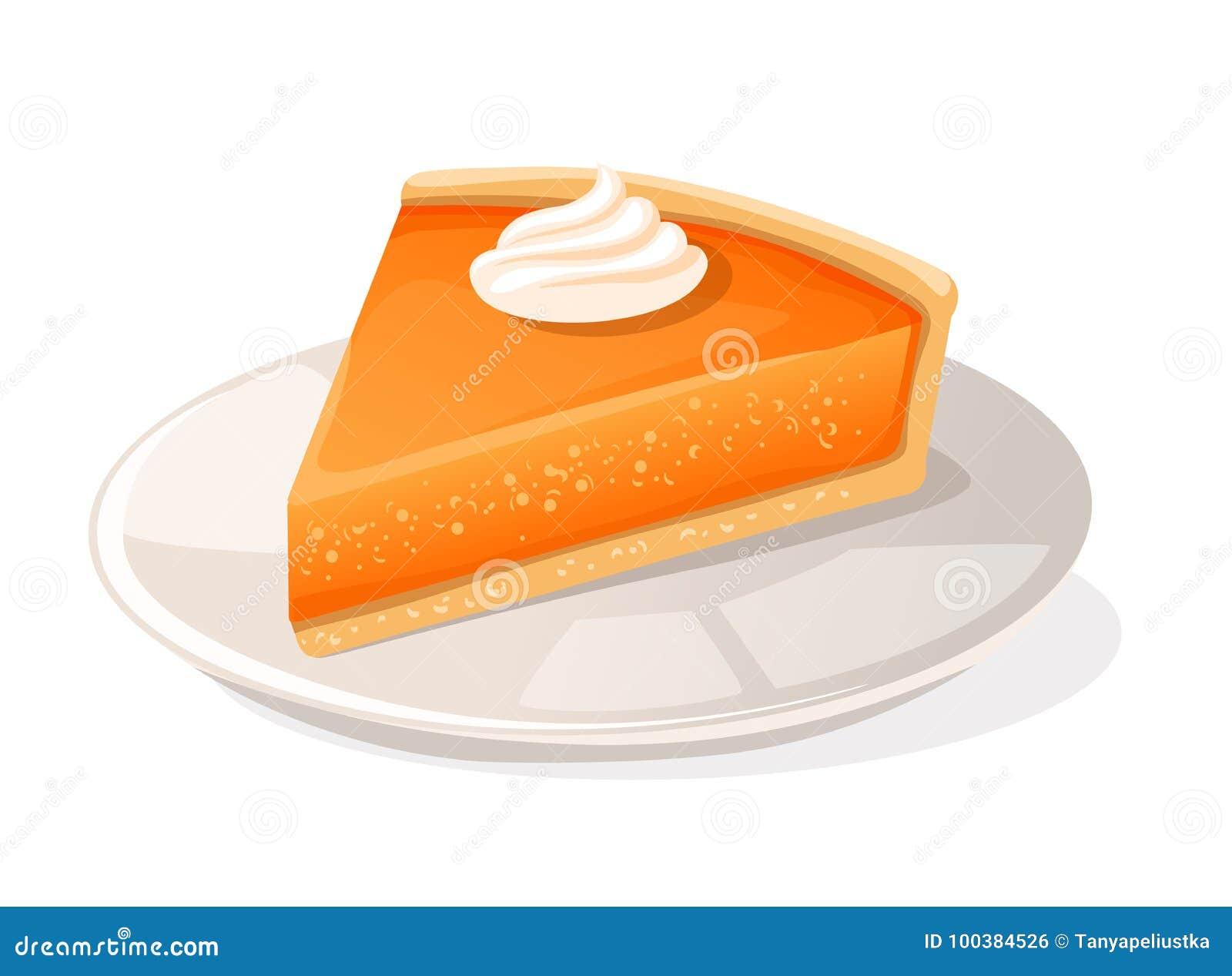 Pedazo de pastel de calabaza