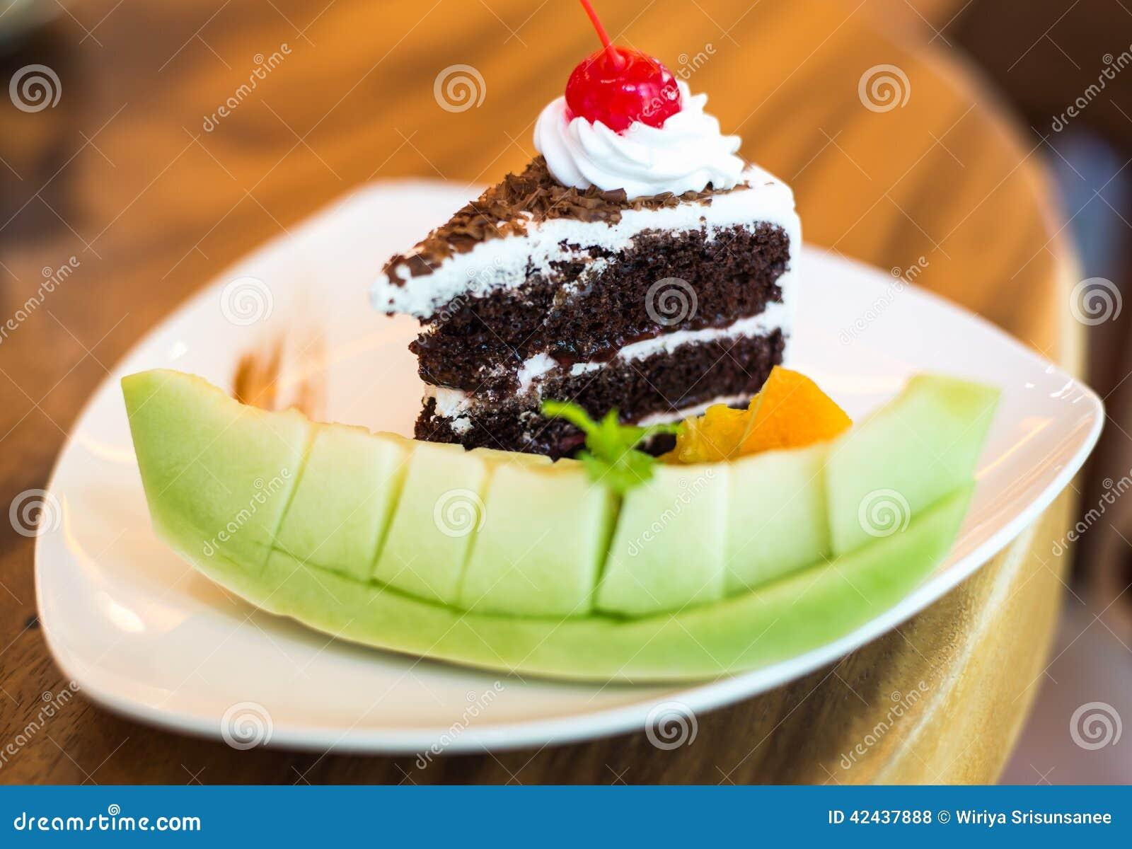 Pedazo de torta del bosque negro