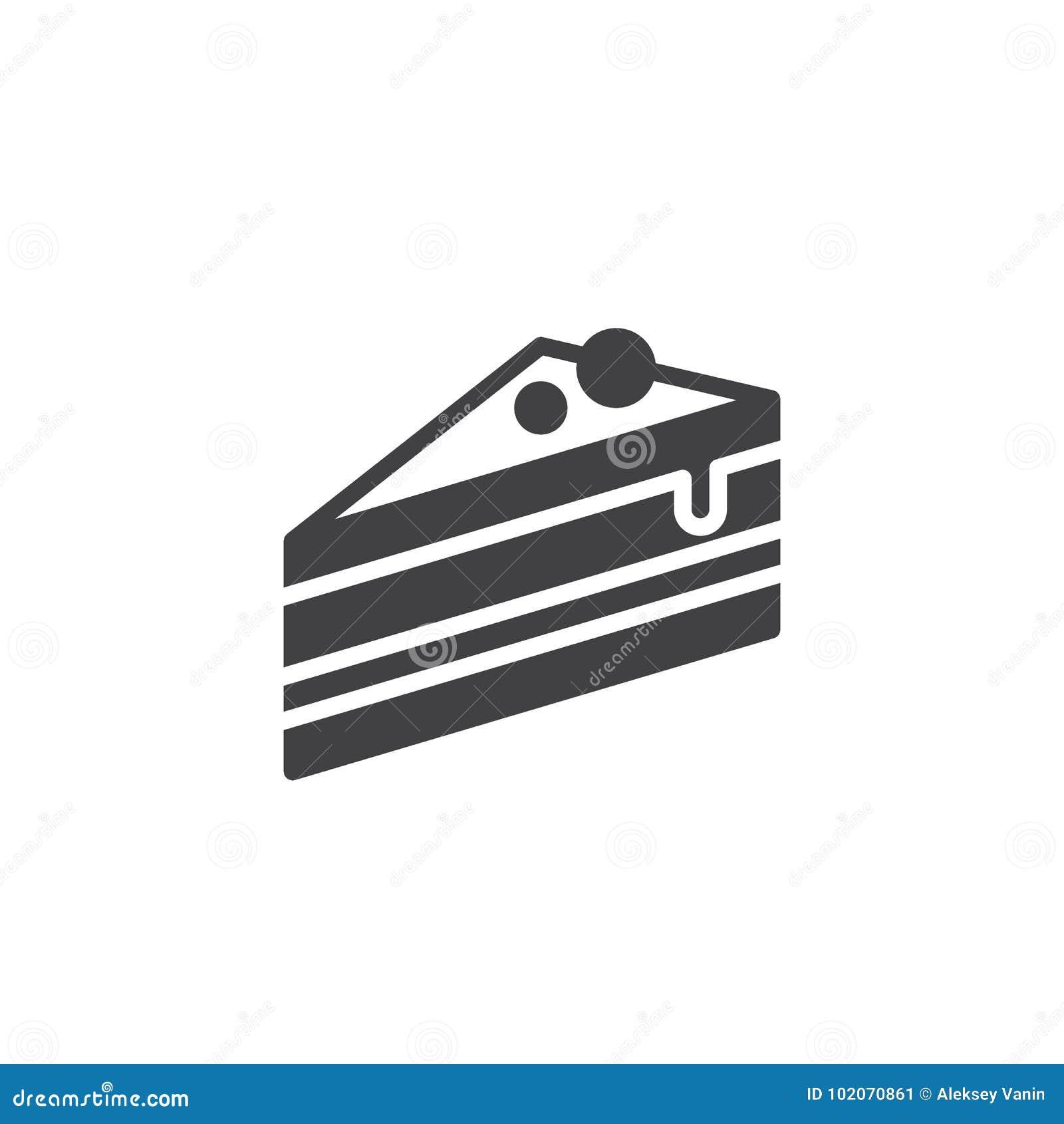 Pedazo de vector del icono de la torta