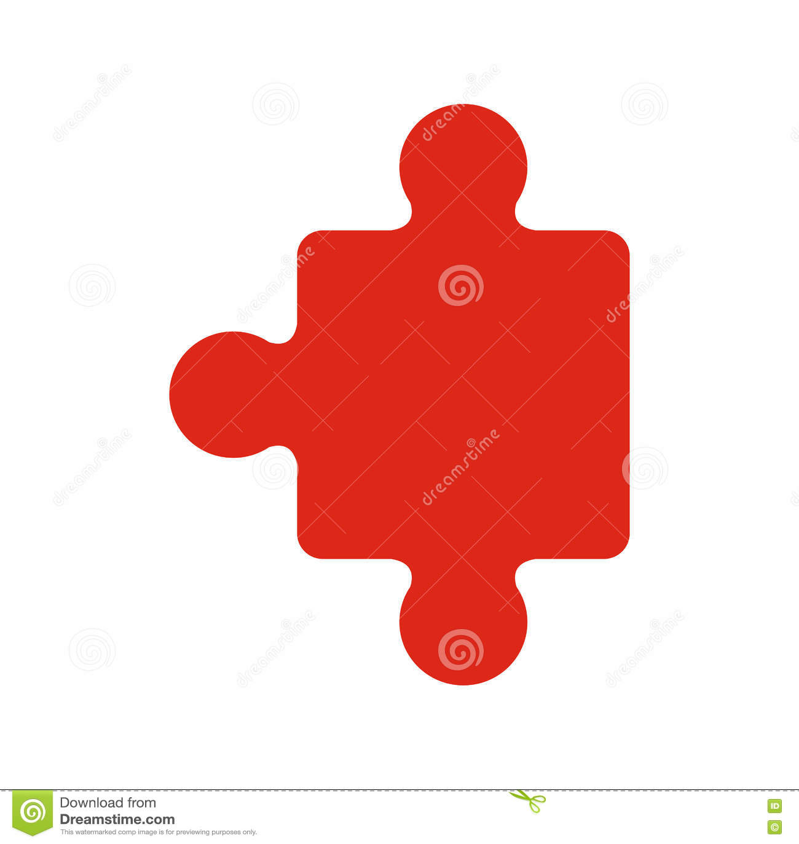 Pedazo rojo de rompecabezas del jigzaw