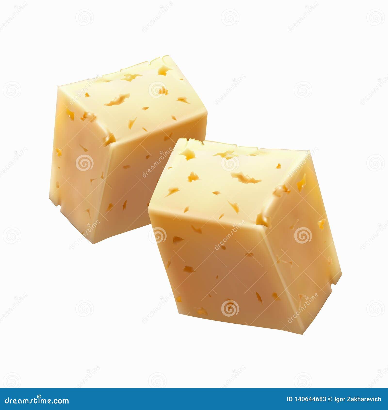 Pedazos de queso