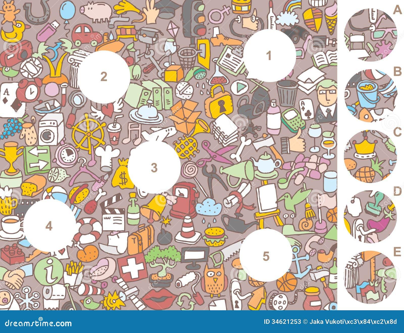 Pedazos Del Partido Juego Visual Ilustracion Del Vector