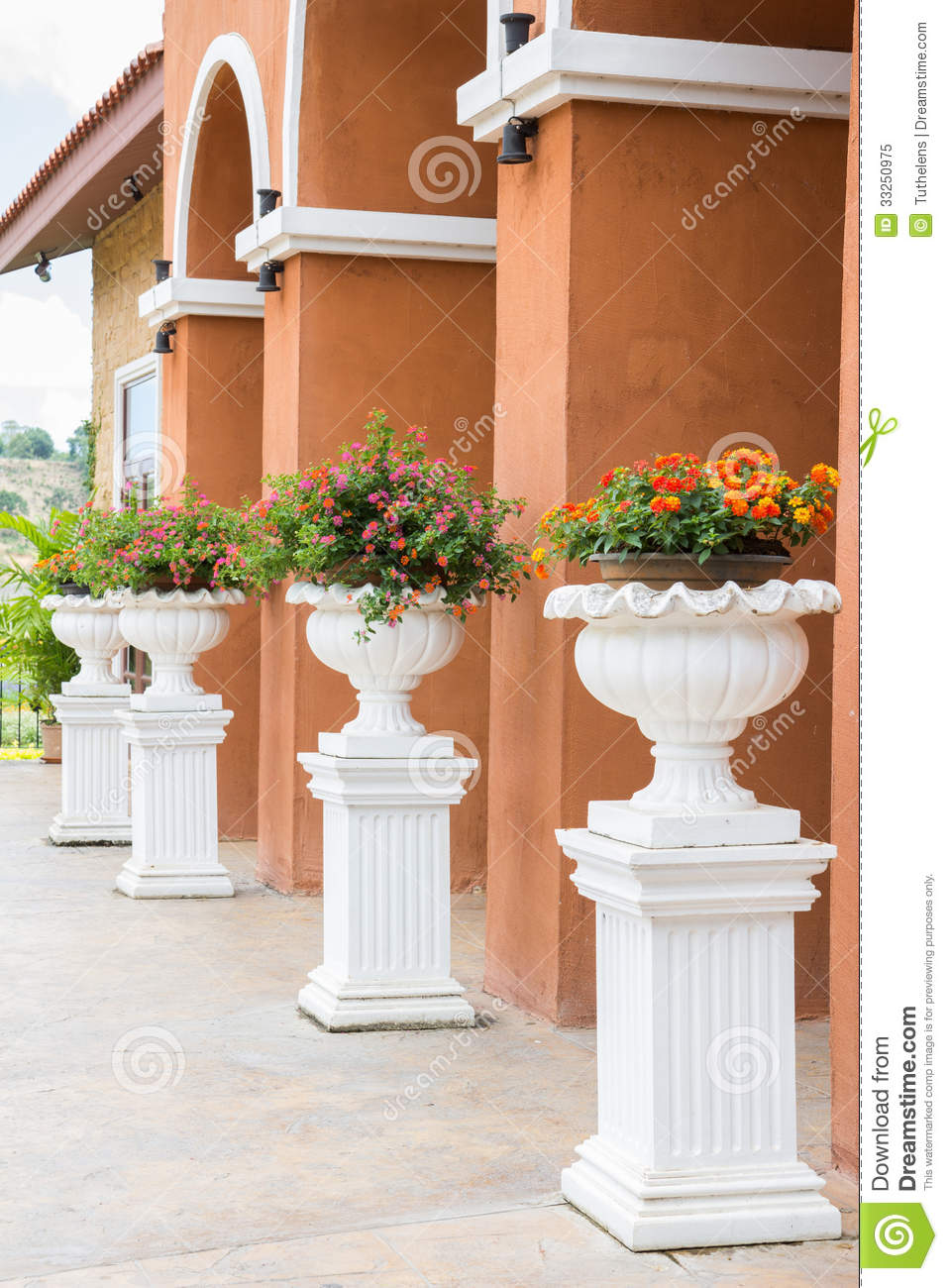 Pedestal Flower Stand Royalty Free Stock Photo Image