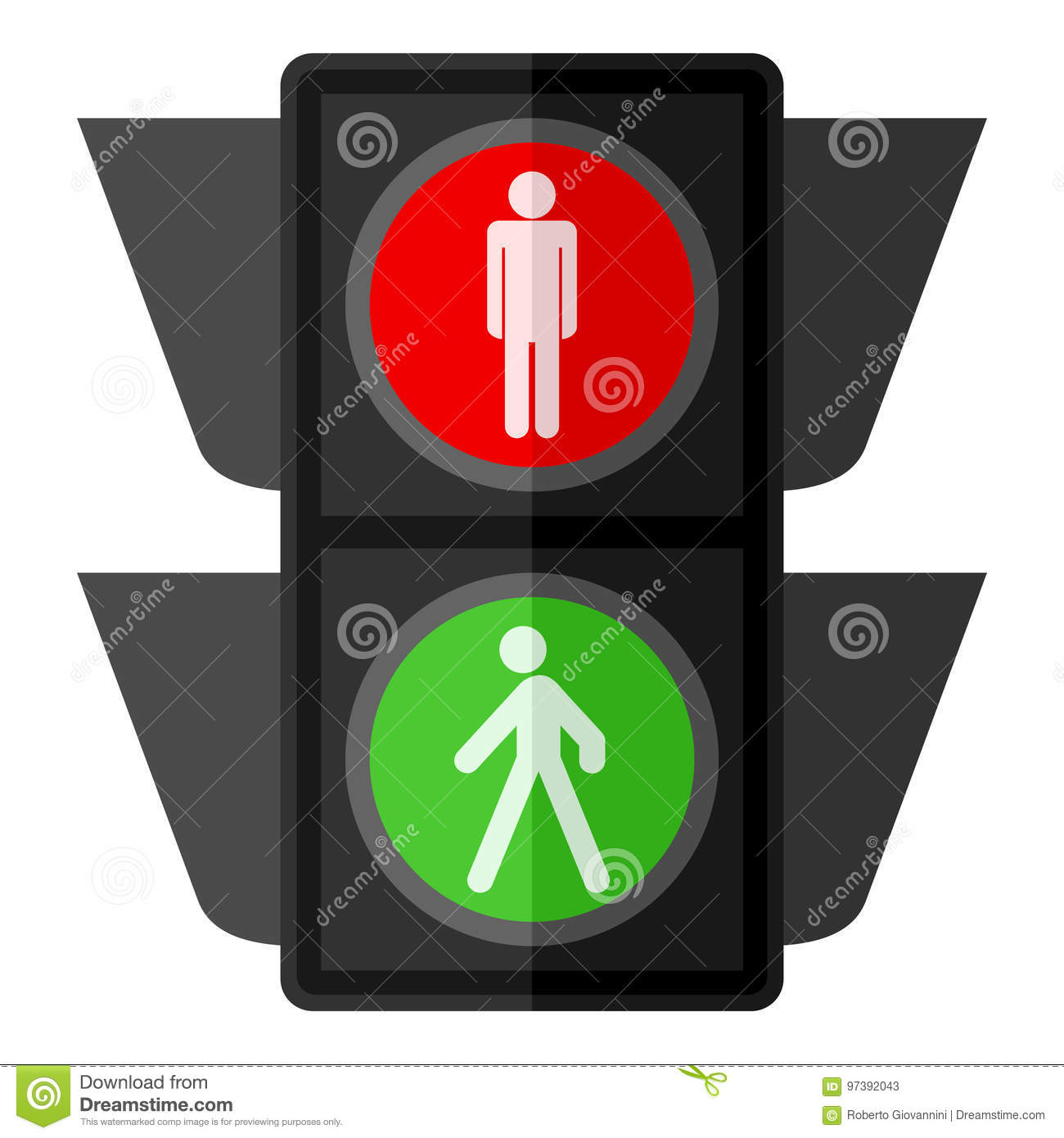 Red Signal Pedestrian Traffic Light Stock Illustrations – 263 Red ... for pedestrian traffic light clipart  51ane