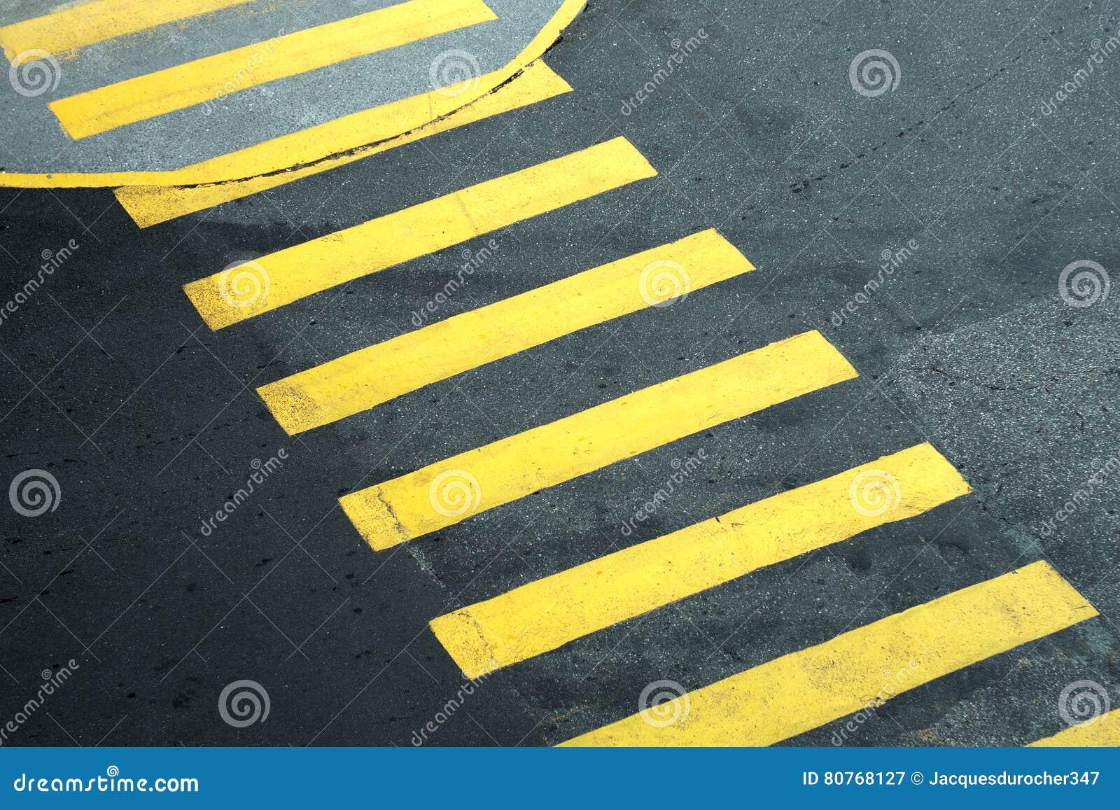 Line Drawing Of Zebra Crossing : Pedestrian yellow crossing asphalt lines walkway lane