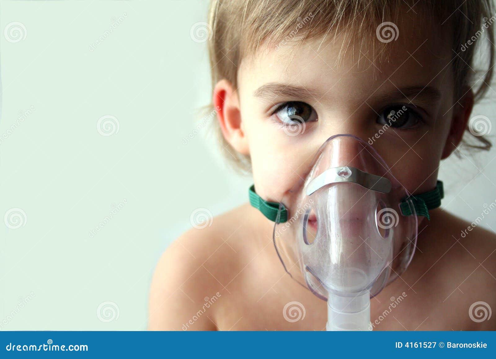 pediatric nebulizer treatment 3 stock image