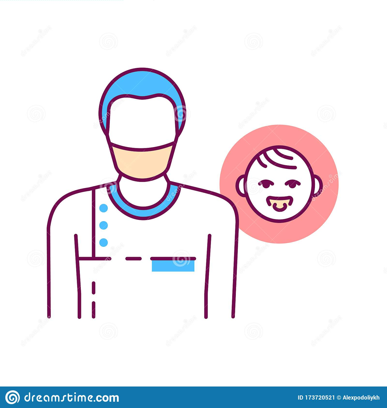 Pediatric Surgeon Color Line Icon Doctor For Children Medical Service And Treatment Children Pictogram For Web Page Mobile App Stock Vector Illustration Of Application Hospital 173720521