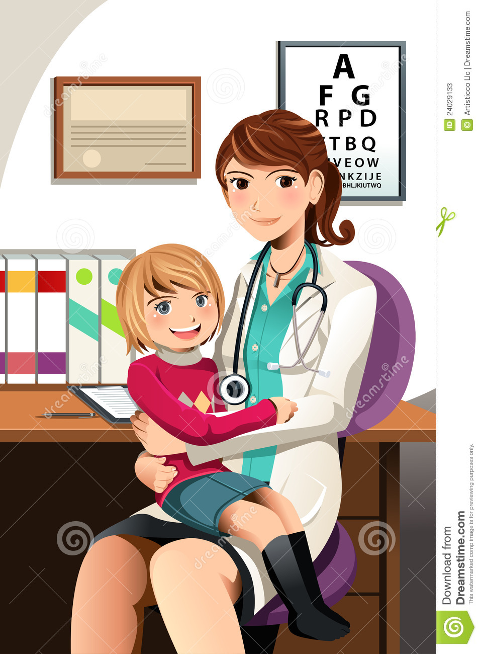 pediatrician with child stock photos image 24029133