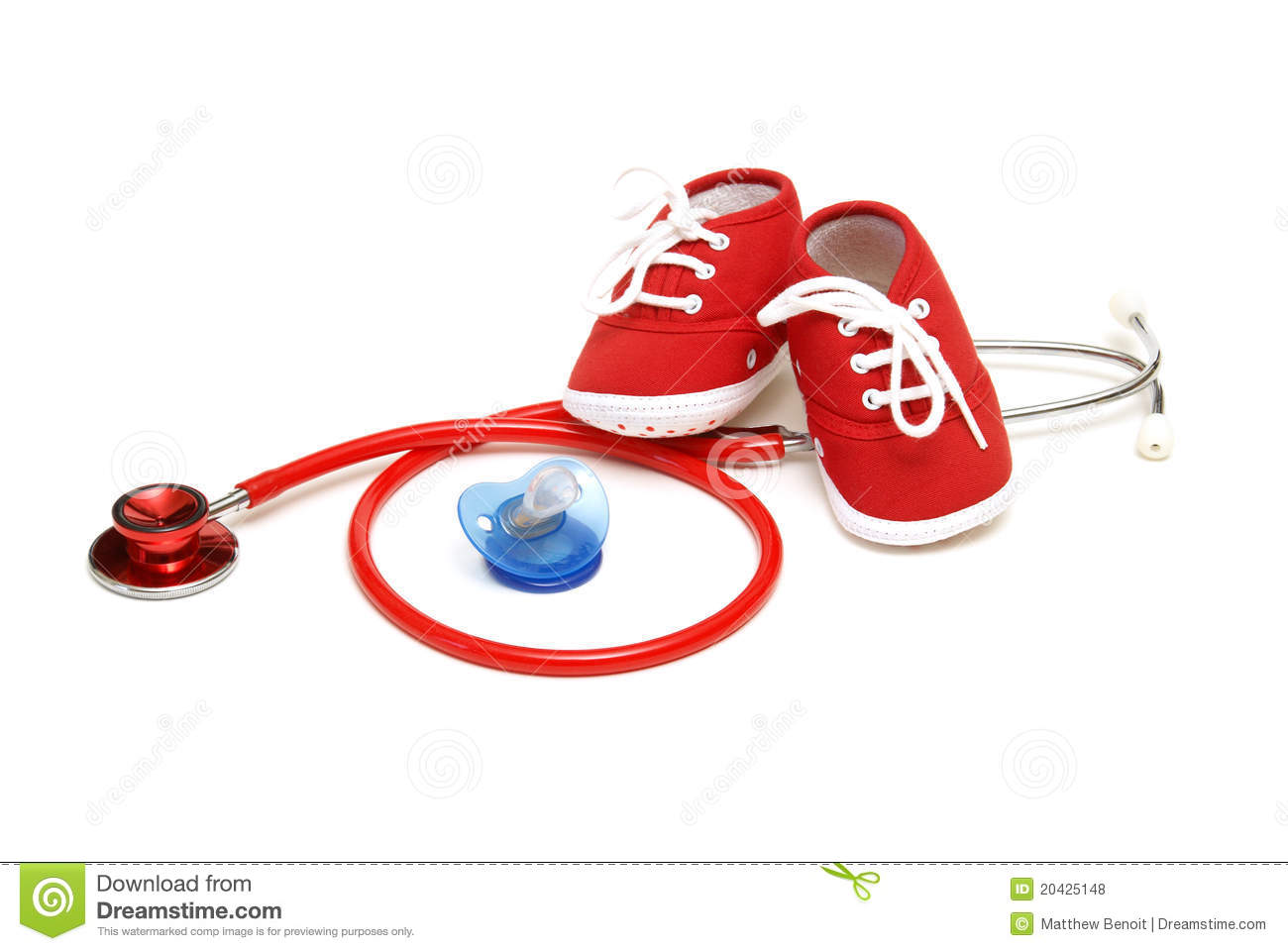 An isolated shot of objects relating to the profession of pediatrics ...