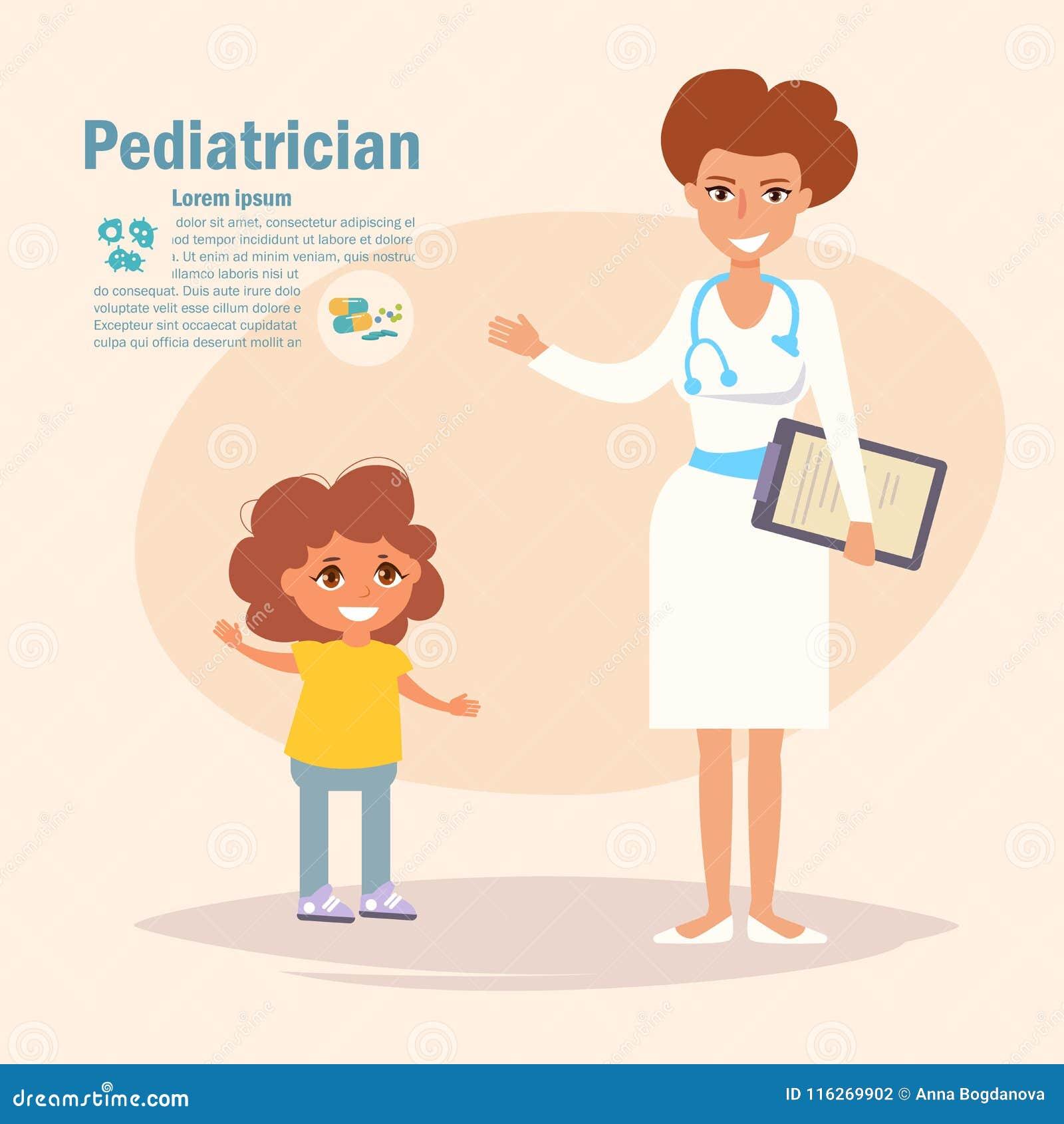 Pediatriska Vector cartoon