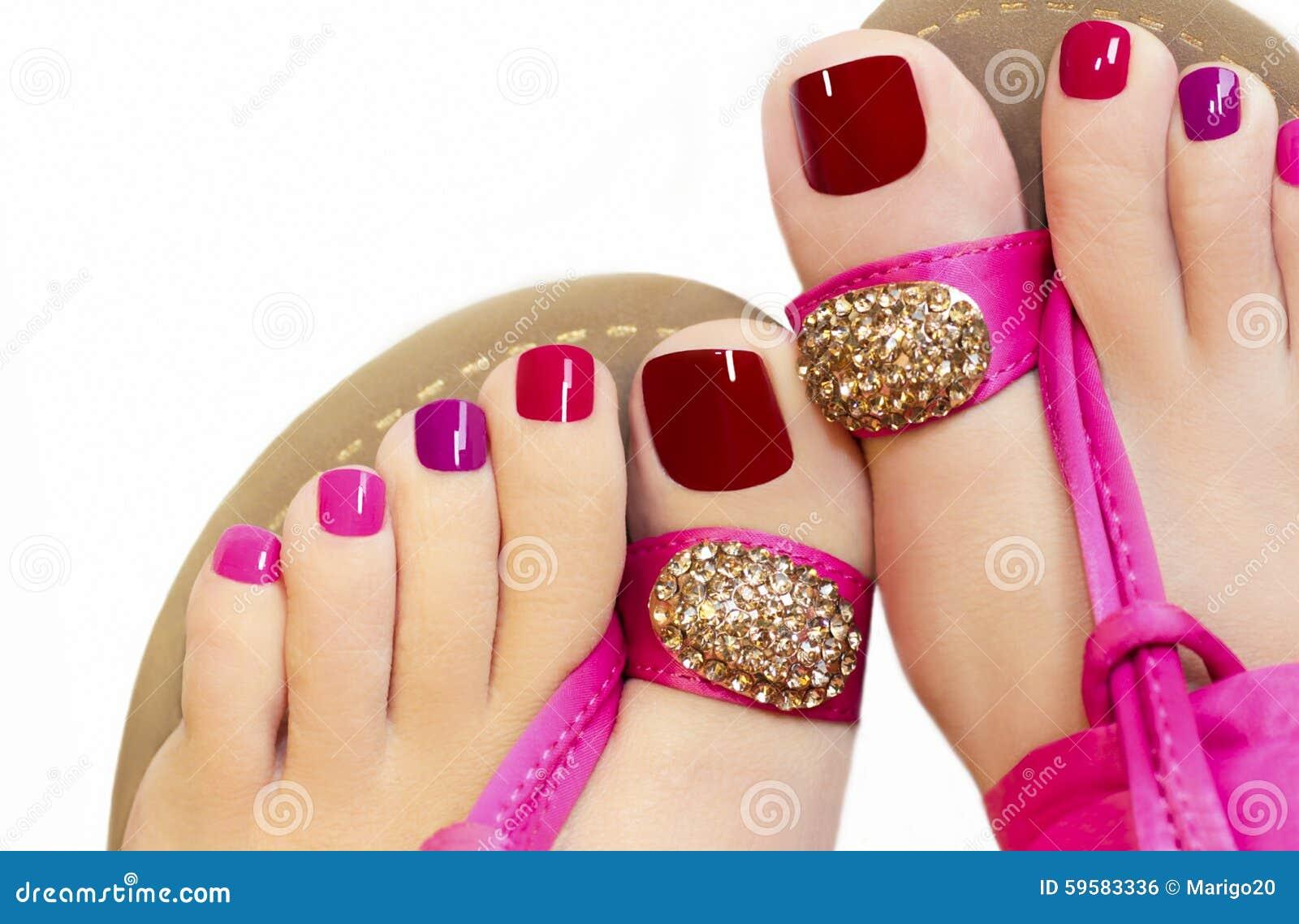 Pedicure cor-de-rosa