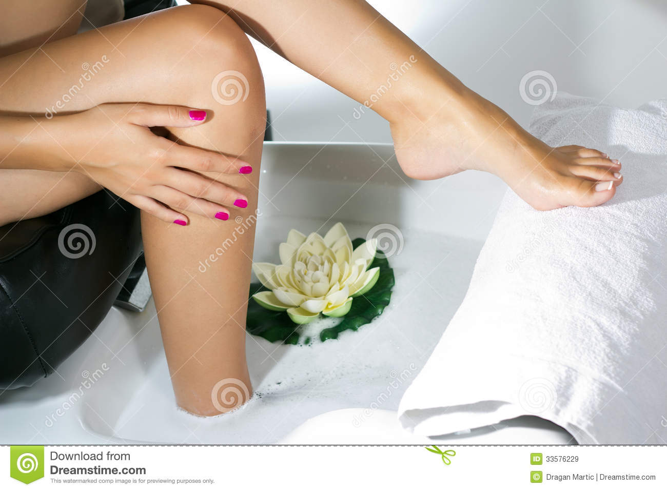 Pedicure on foot royalty free stock images image 33576229 for Spa services near me
