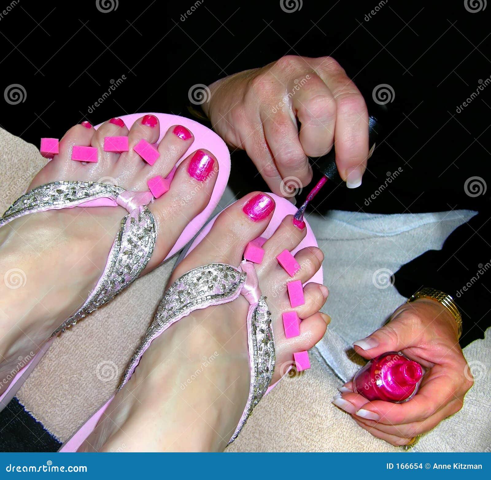 9cba4b445a78 Pedicure - Pink Toenails stock photo. Image of pedicure - 166654
