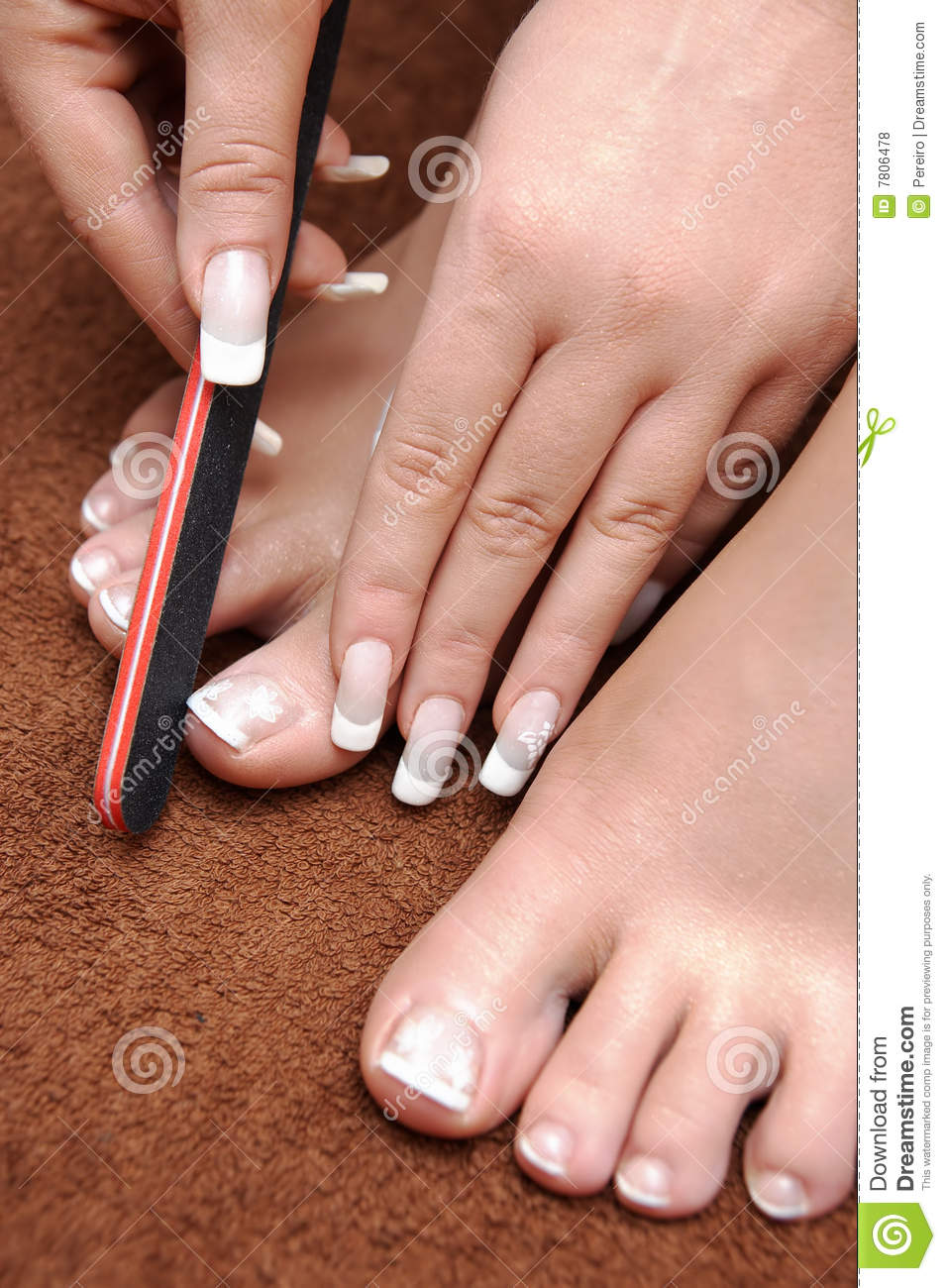 Pedicure set up royalty free stock photos image 7806478 for How to renew old nail polish