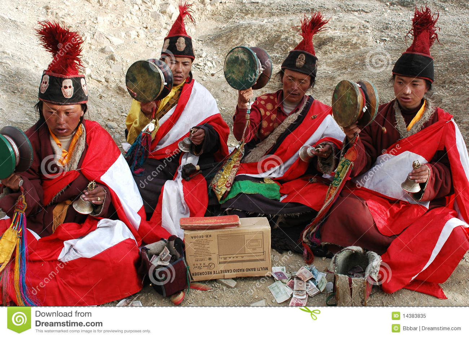 Pedintes tibetanos