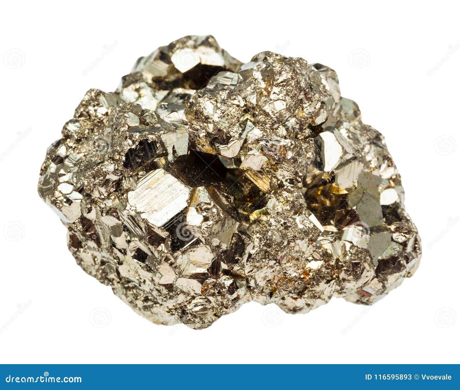 Pedra crua da pirite de ferro isolada