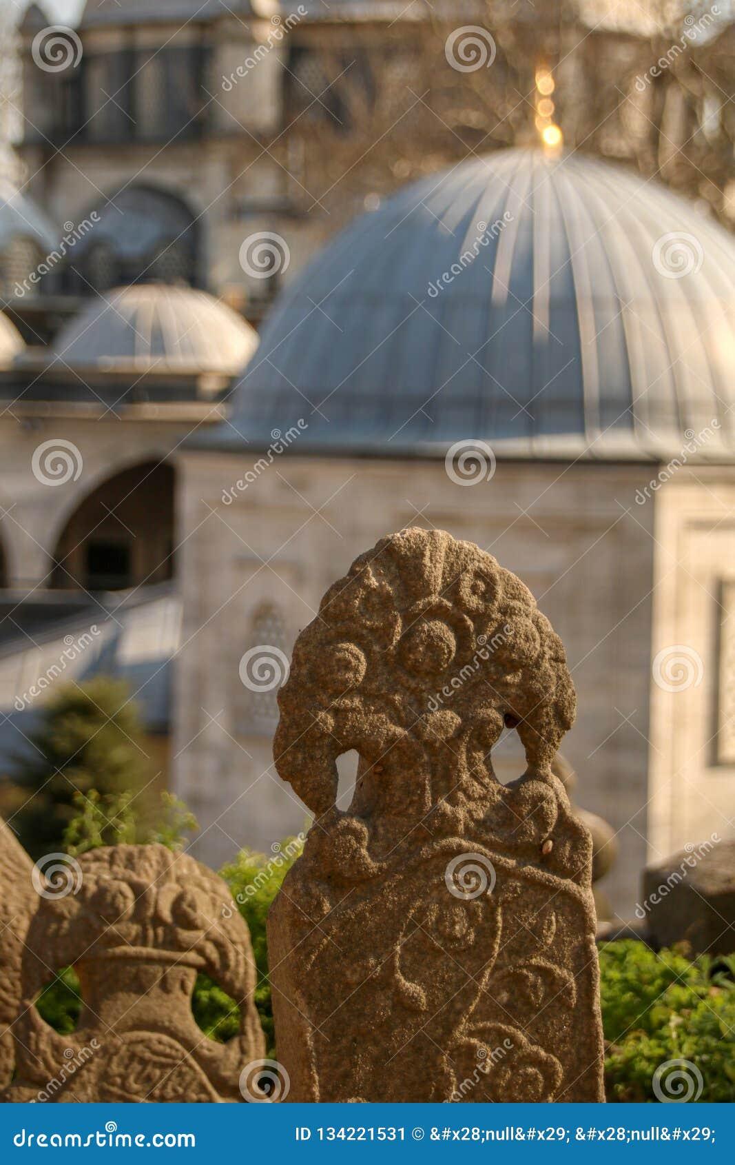 Pedra do túmulo antigo, o período do otomano, Turquia