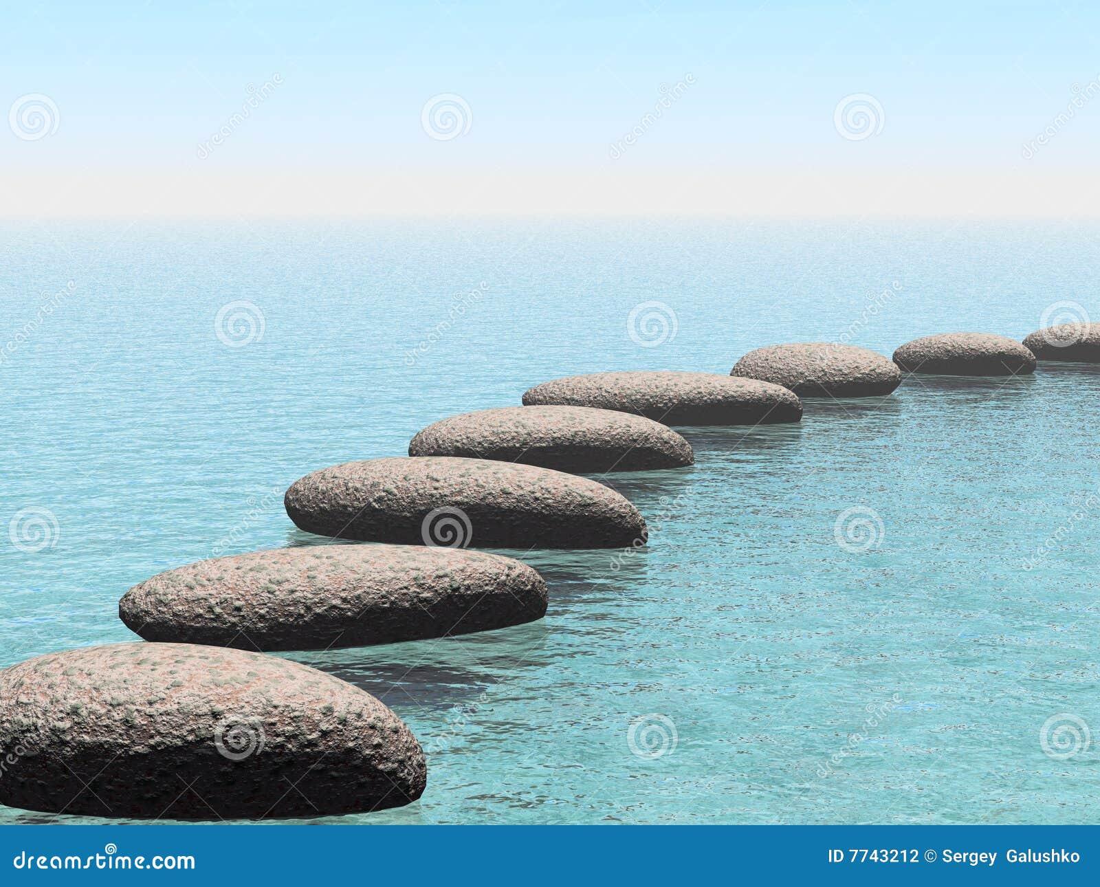 Pedras do flutuador
