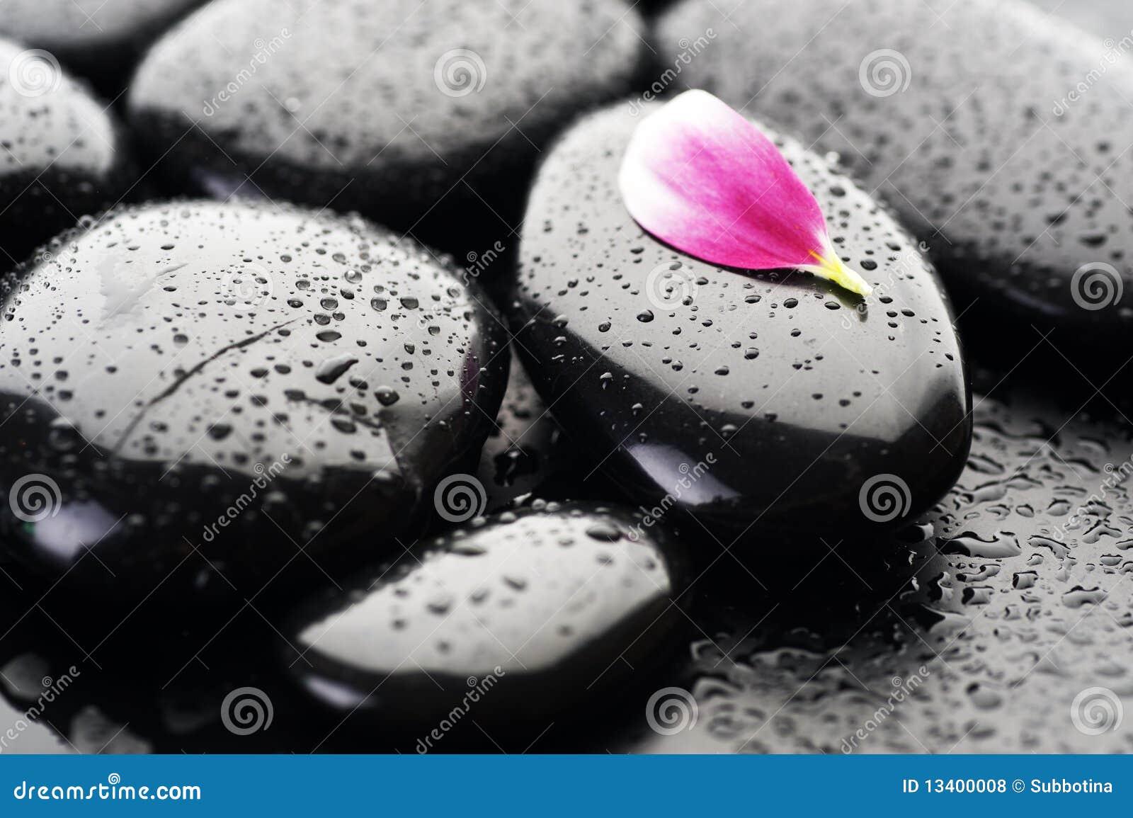Pedras do zen ou dos termas