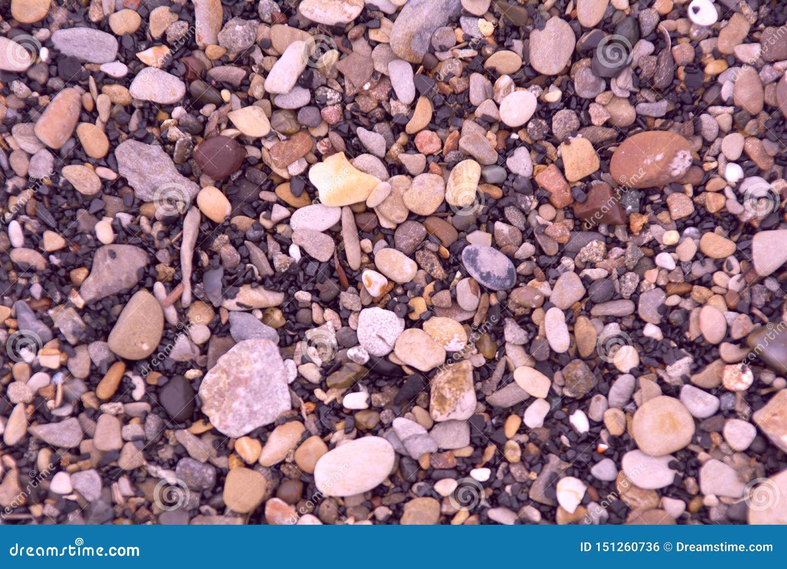 Pedras pequenas do mar ou do rio