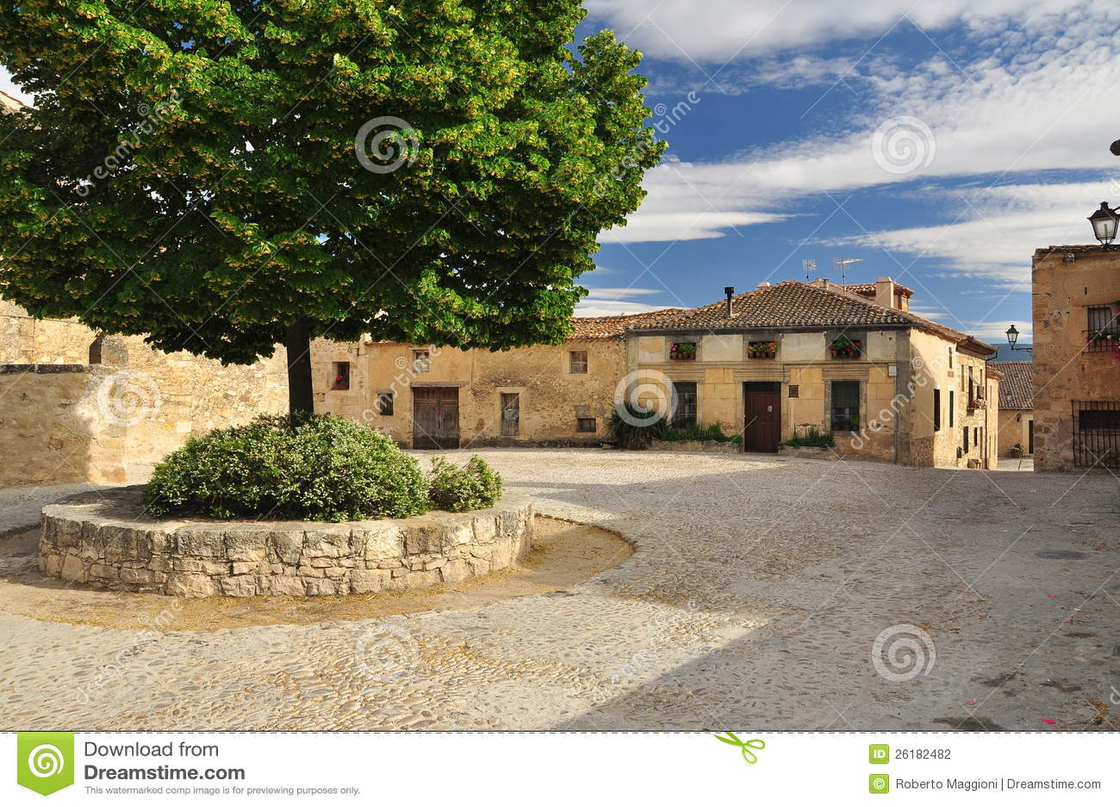 Pedraza Castile, Spanien. Byfyrkant