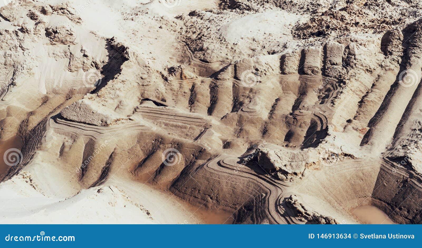 Pedreira industrial da areia Po?o de areia Ind?stria da constru??o civil