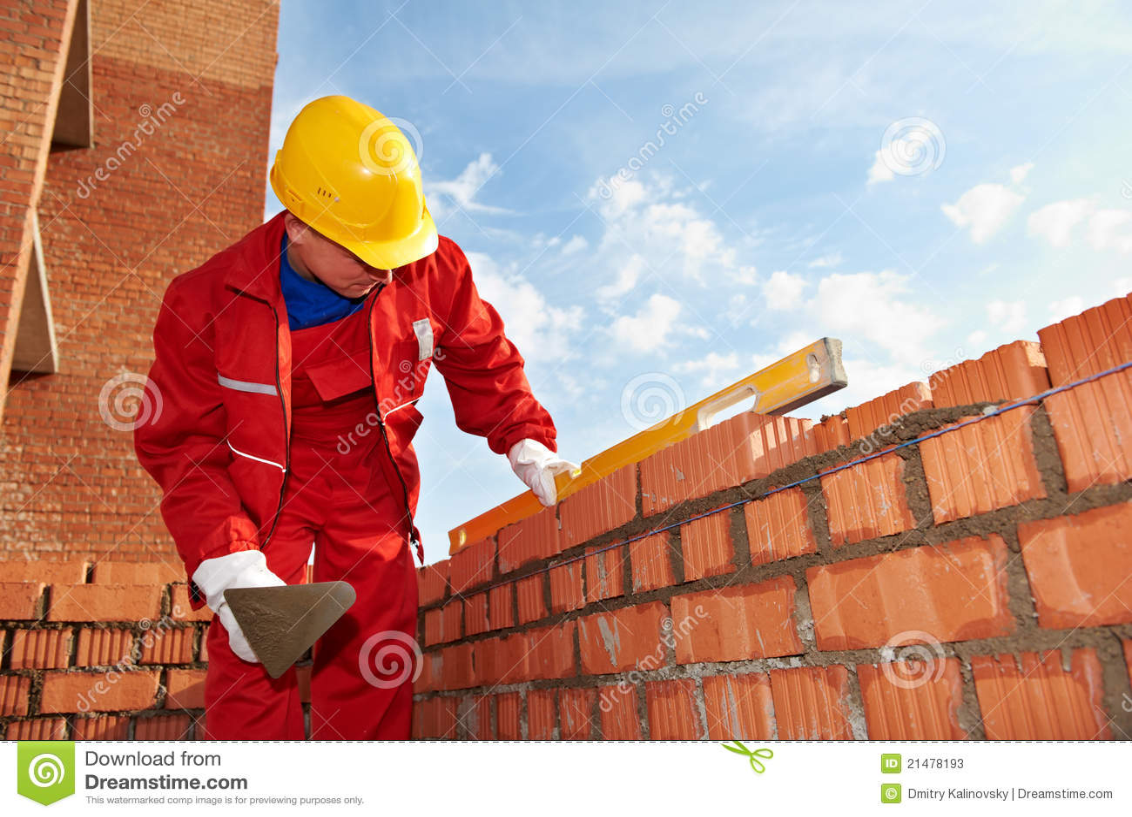 Pedreiro do trabalhador do pedreiro da construção