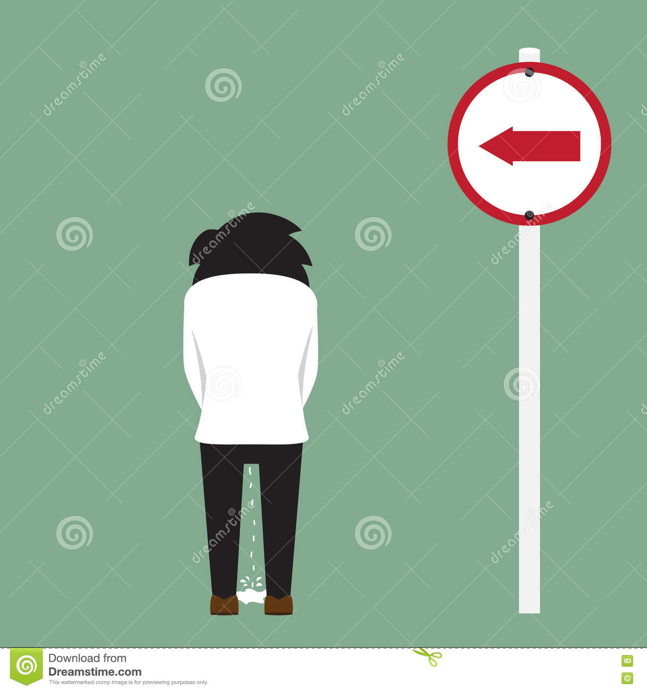Peeing Cartoons, Illustrations & Vector Stock Images