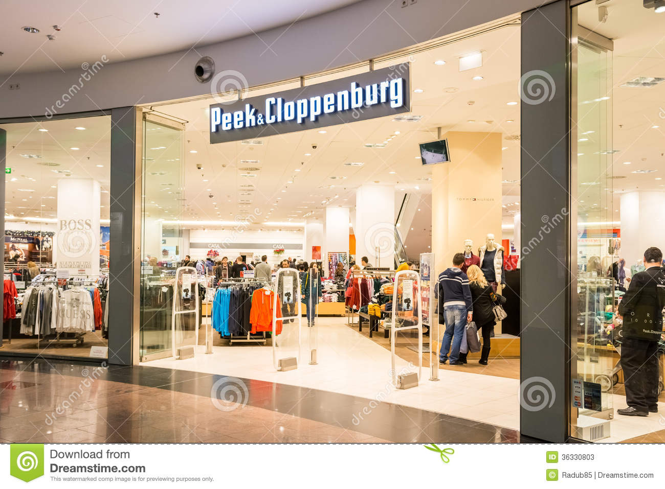 cfd6818eaf027d Peek   Cloppenburg Store editorial stock photo. Image of accessories ...