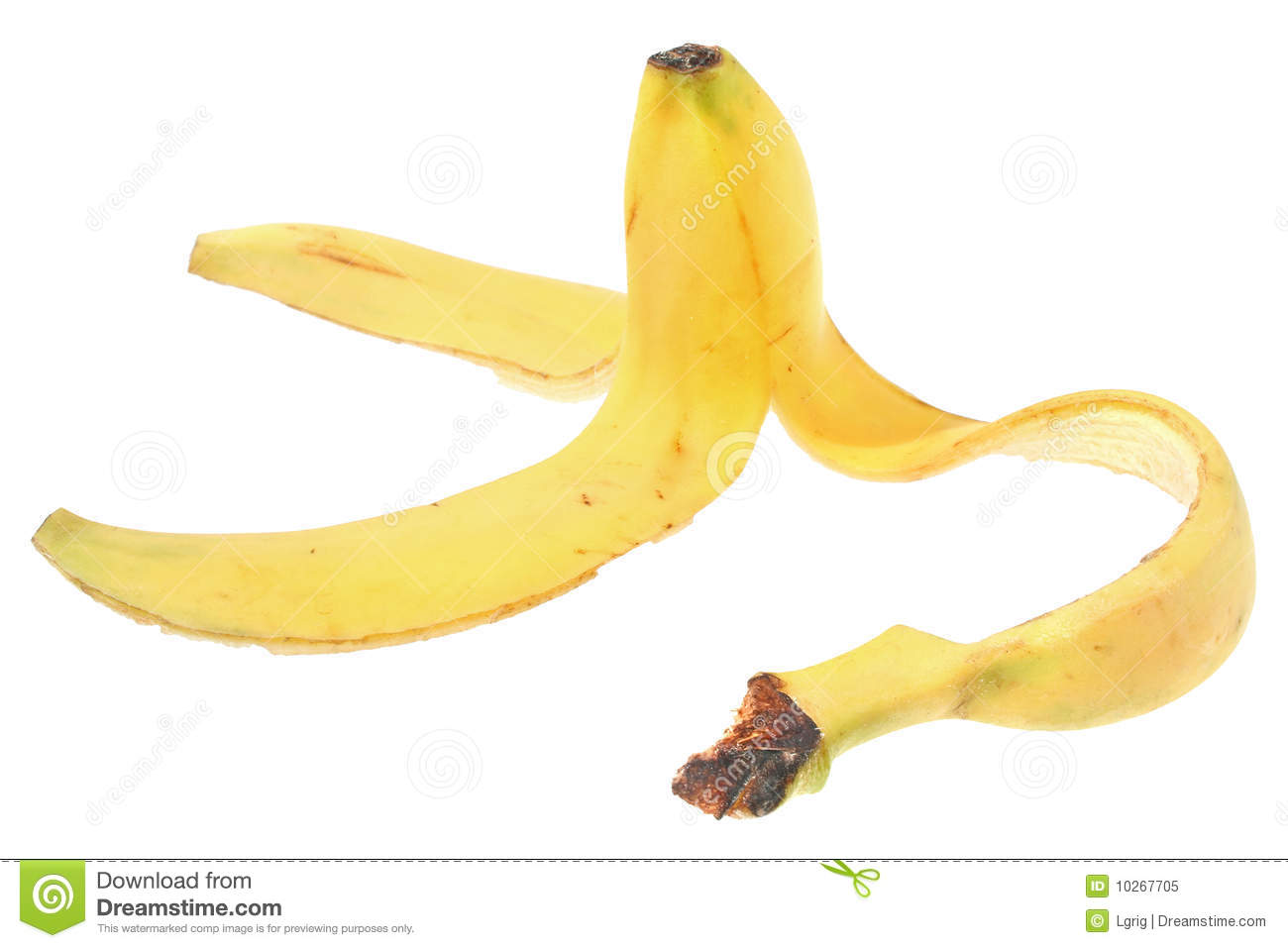 Peel Of The Banana Stock Image Image Of Isolated Eating 10267705