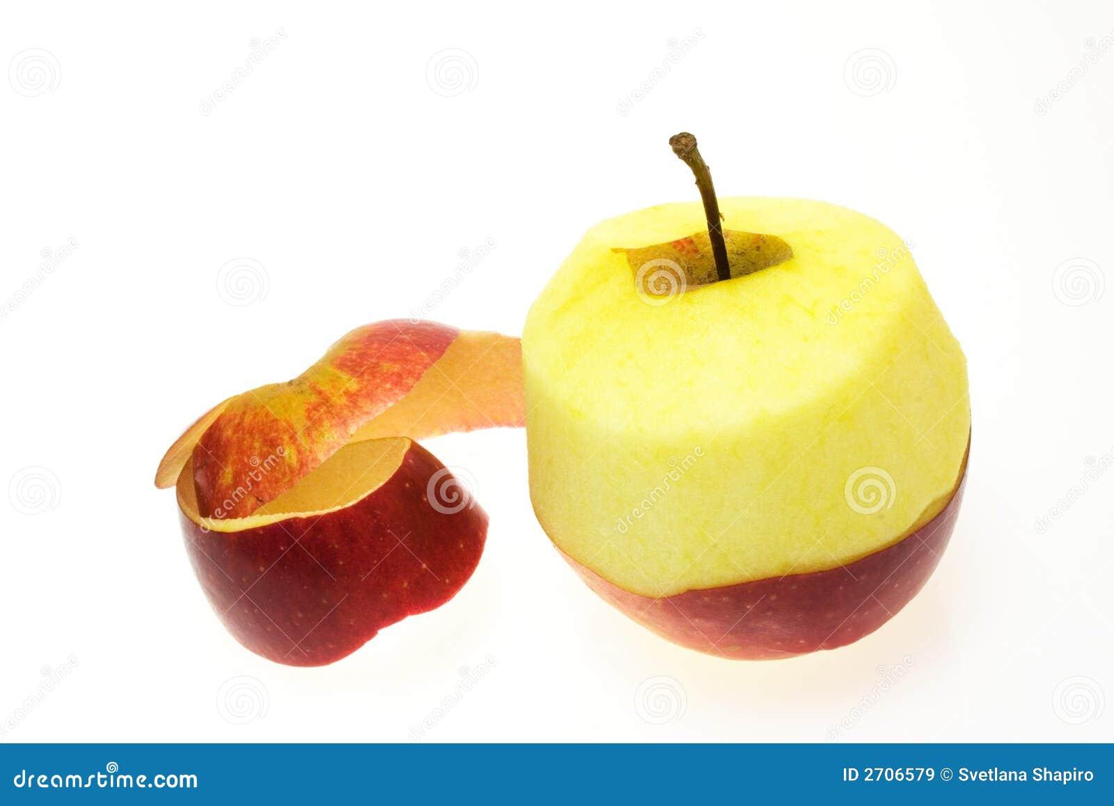 Peeled Apple Royalty Free Stock Images - Image: 2706579