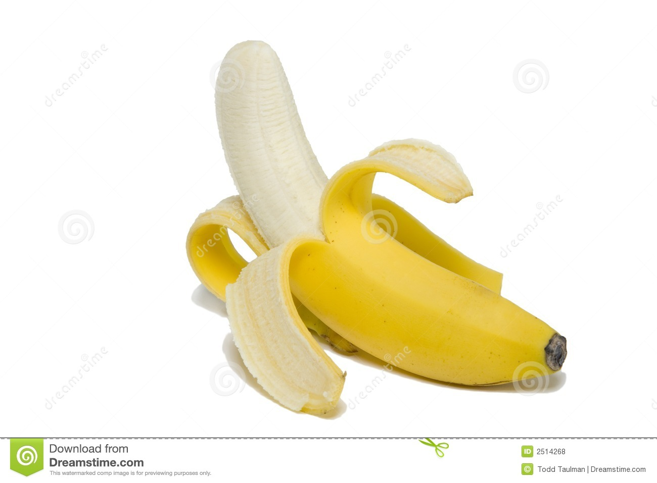 Peeled Banana Royalty Free Stock Photos - Image: 2514268