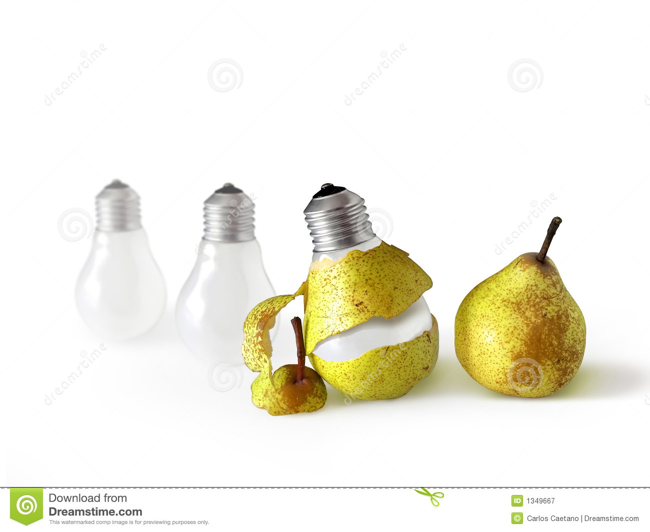 Peeled Light Bulb