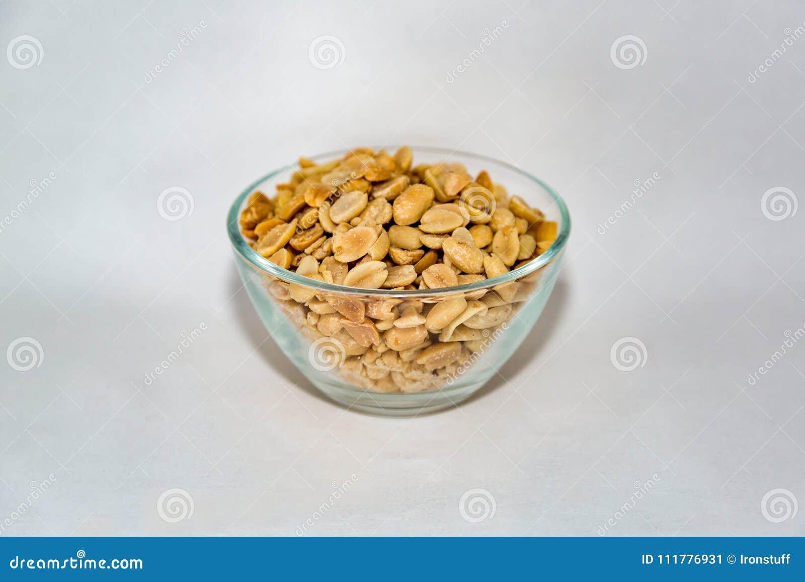 Peanuts in a glass bowl