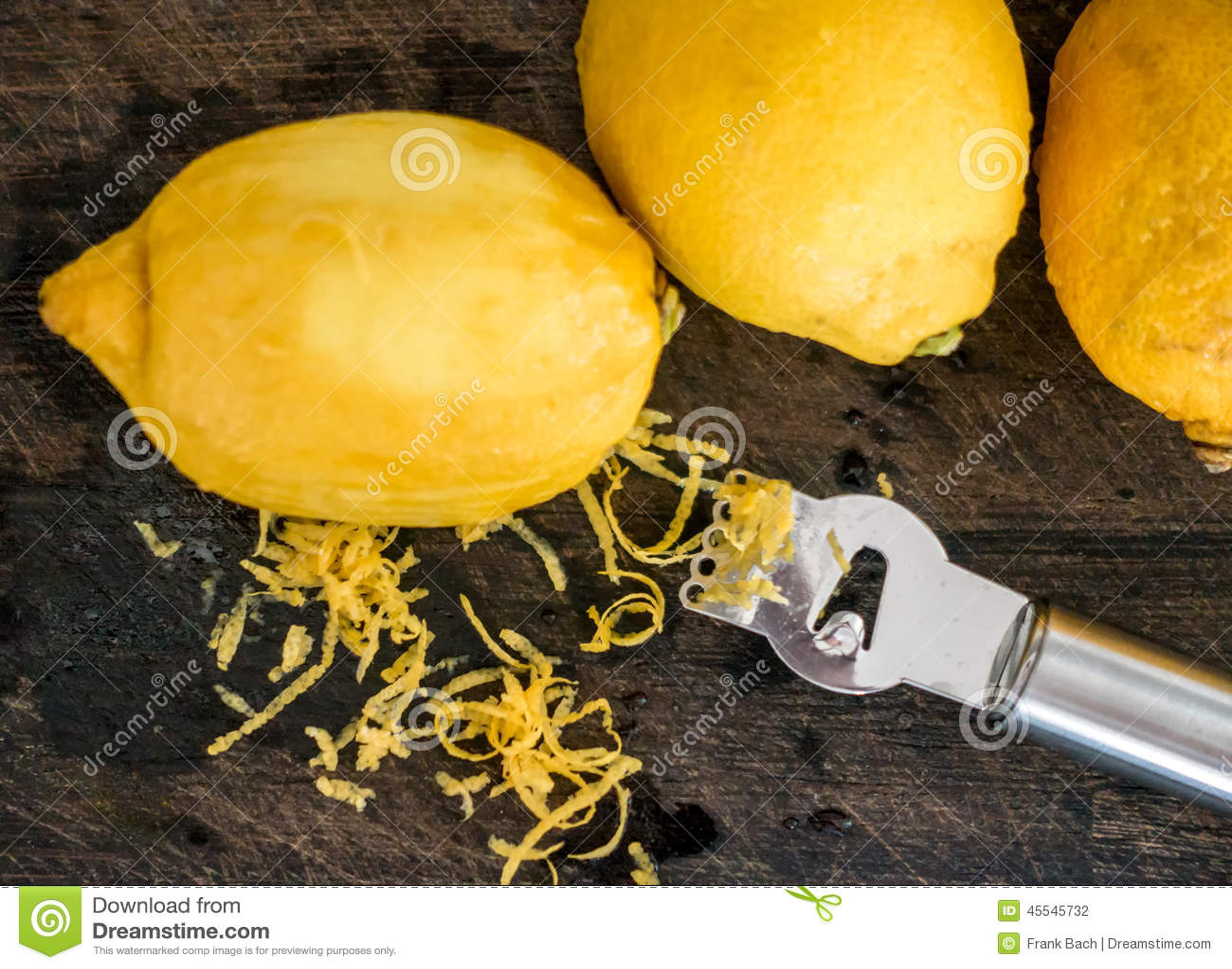 Peeling lemon rind to add zest