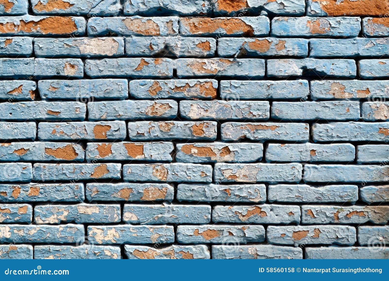Peeling Paint Brick Wall Background Texture Stock Photo Image 58560158