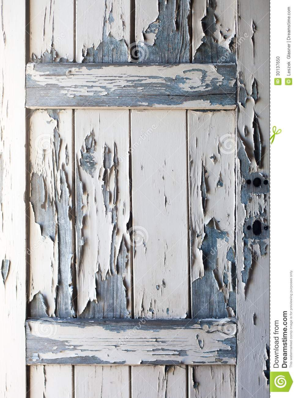 Peeling Paint On Old Wooden Door, Texture Stock Photo ...