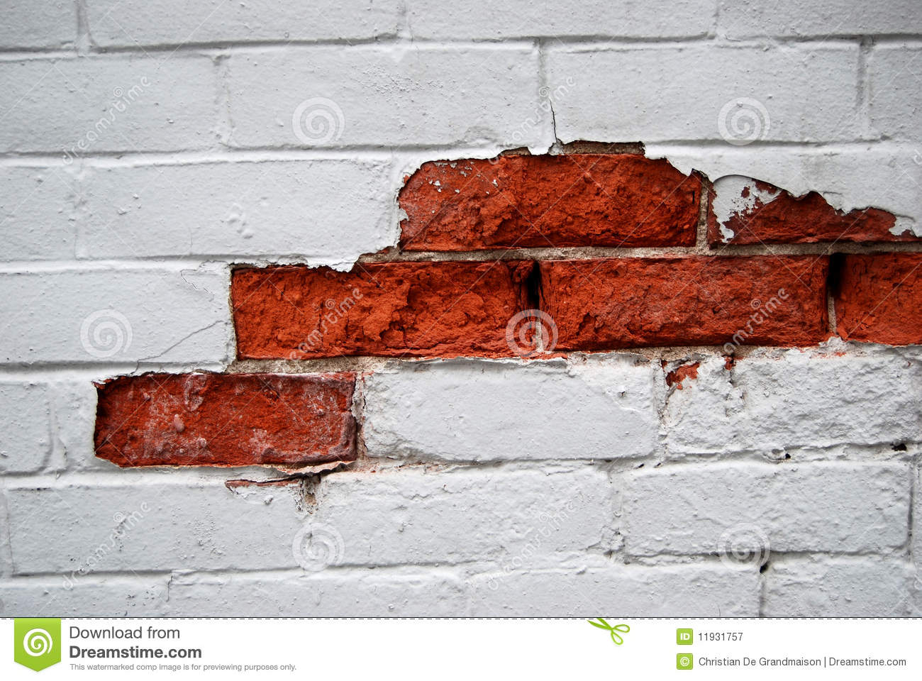 peeling paint on wall royalty free stock photography - image: 11931757