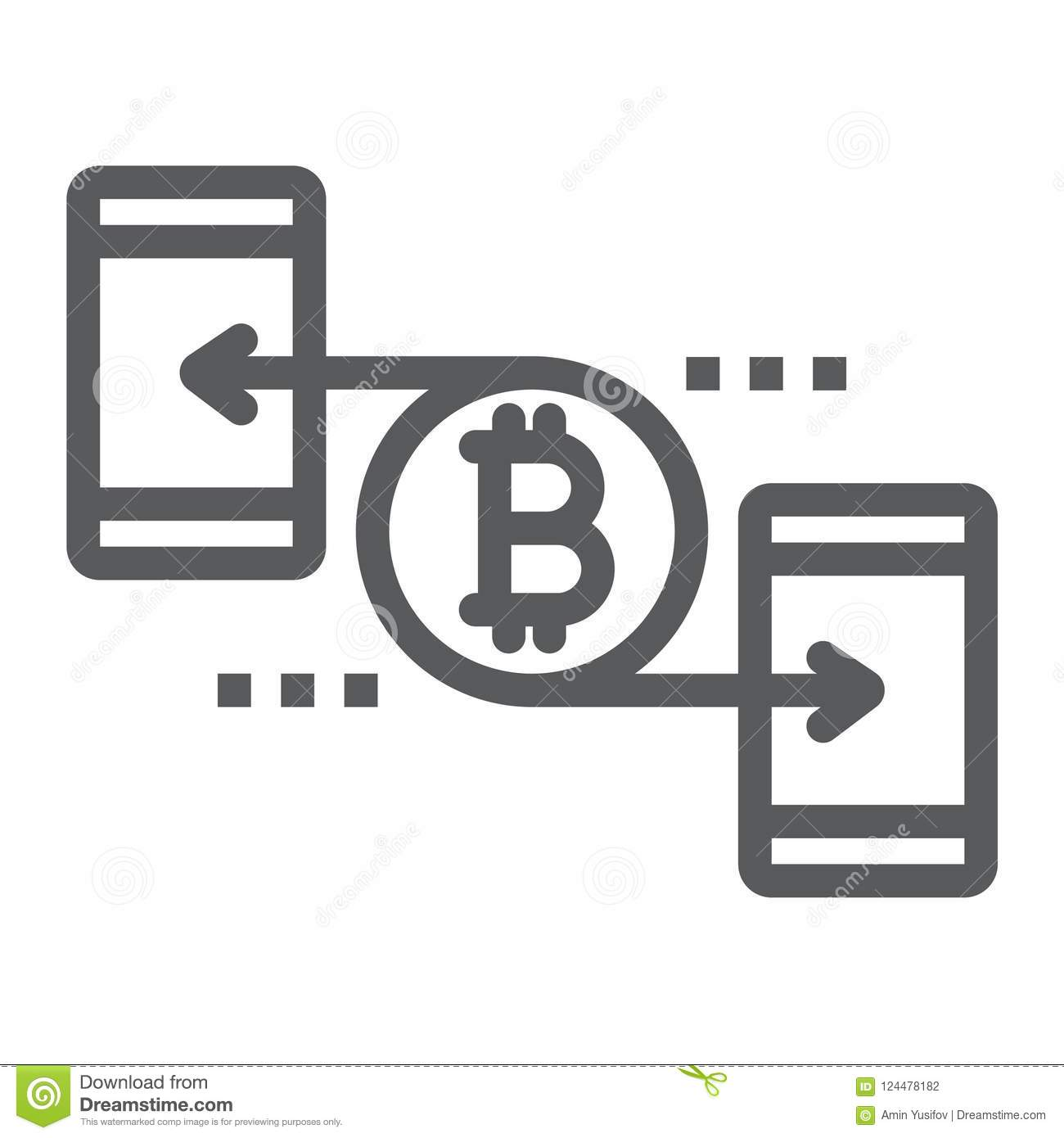 Download Peer To Line Icon Money And Finance Stock Vector