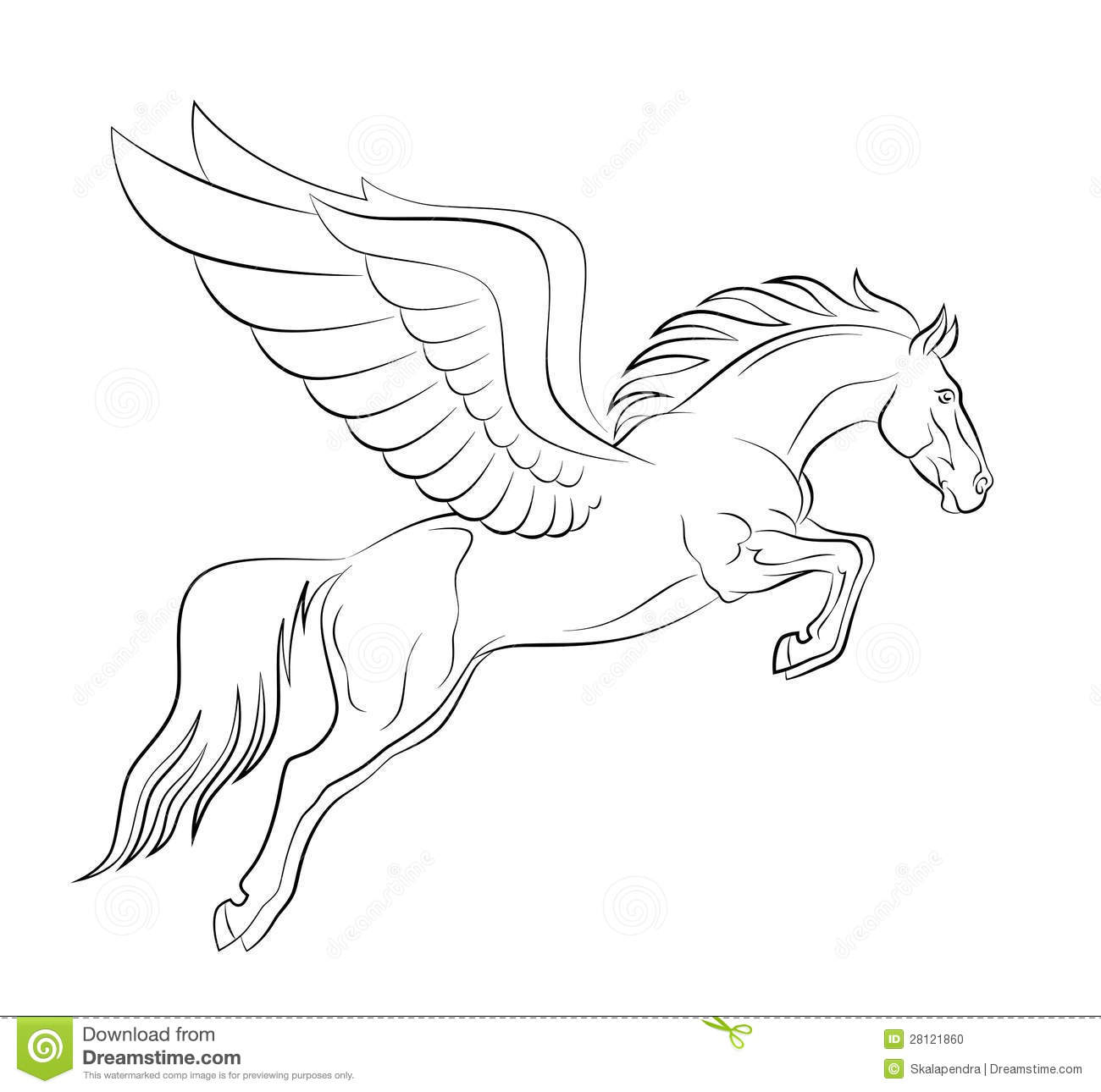 coloring pages of pegasus images