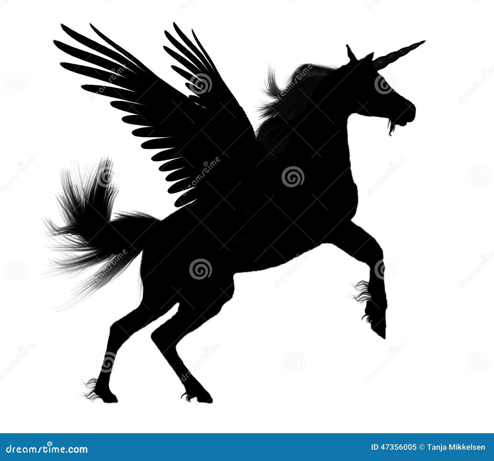 Encantador Unicornio Pegaso Para Colorear Viñeta - Dibujos Para ...