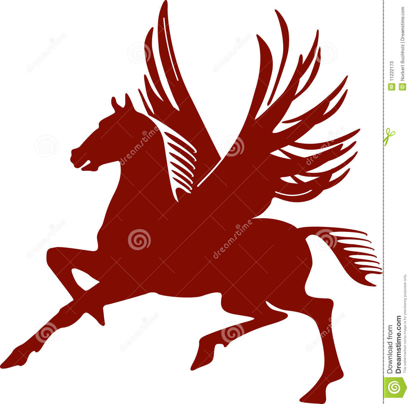 Pegasus Flying Horse Stock Vector Illustration Of Flying 11222173