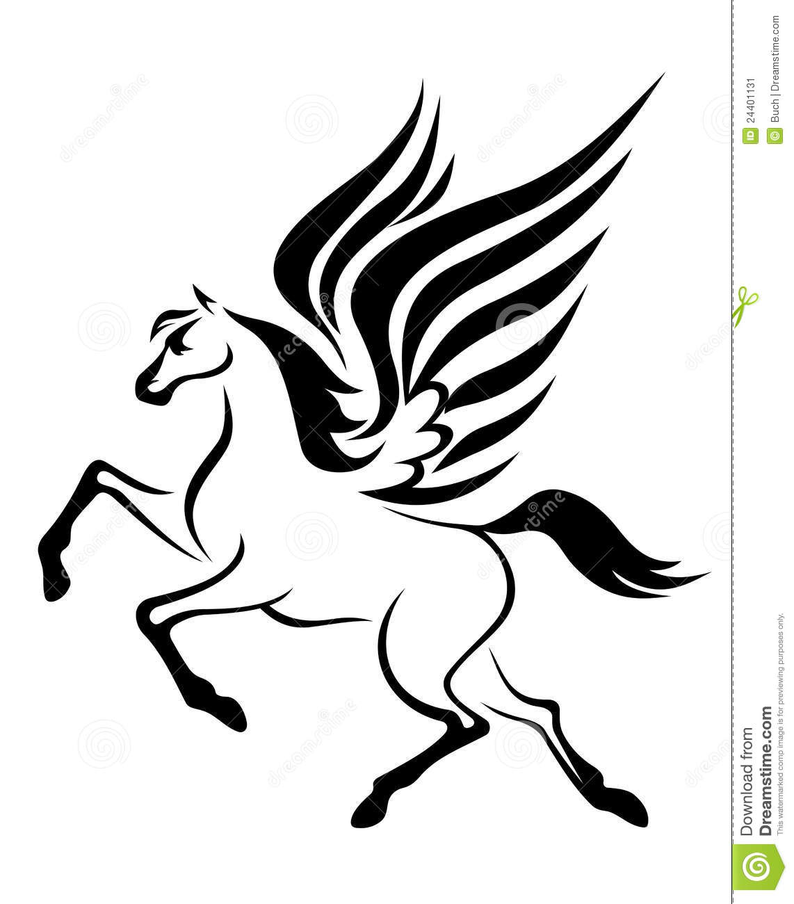 Pegasus Horse With Wings Stock Image - Image: 24401131