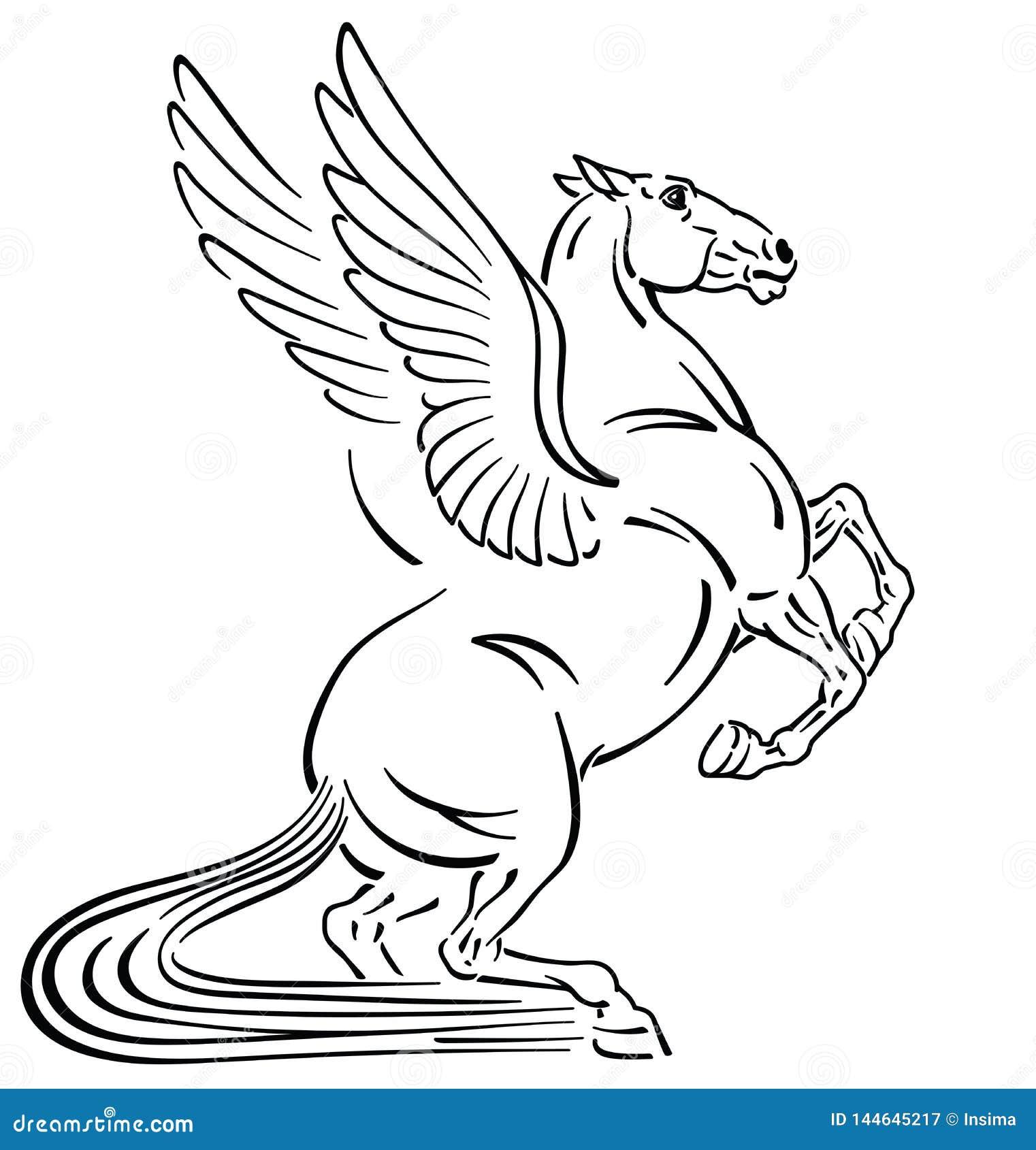 Pegasus Tattoo Stock Illustrations 839 Pegasus Tattoo Stock Illustrations Vectors Clipart Dreamstime