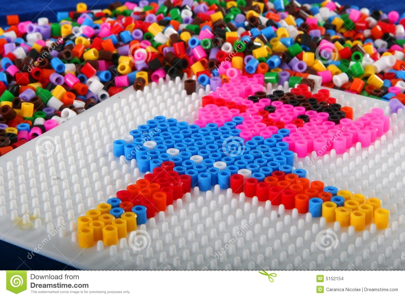 Pegboard and beads craft stock images image 5152154 for Bead craft ideas for kids