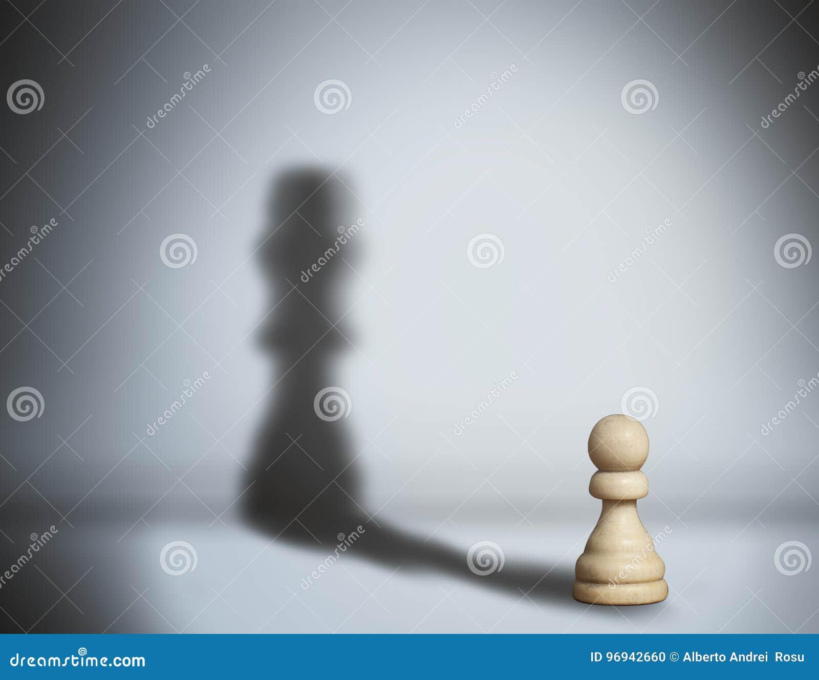 Pegno dell ombra di scacchi